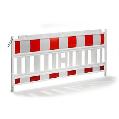 Schake Absperrgitter, Kunststoff mit reflektierender Folie - weiß / rot