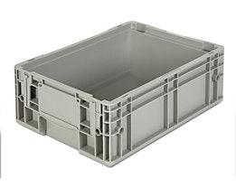 Stapelbehälter aus Polypropylen - Inhalt 12 l, Außenmaße LxBxH 400 x 300 x 147 mm - grau