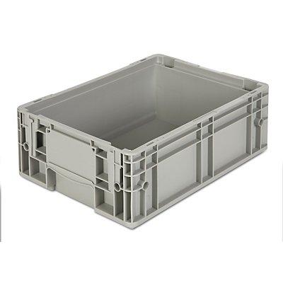 VECTURA Stapelbehälter aus Polypropylen - Inhalt 12 l, Außenmaße LxBxH 400 x 300 x 147 mm - grau