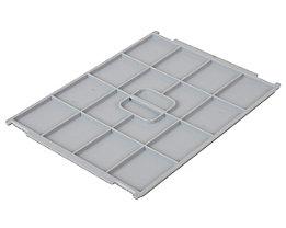 Couvercle en polypropylène - pour L x l conteneur 400 x 300 mm - gris, pour 12 et 24 l