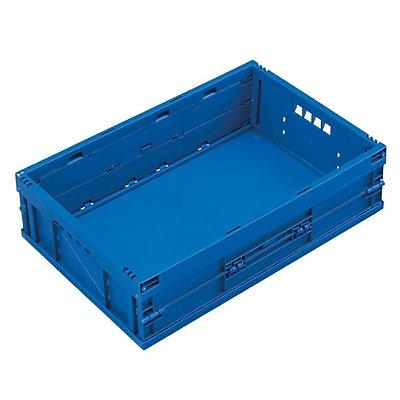 Faltbox aus Polypropylen - Inhalt 33 l, ohne Deckel - blau