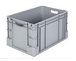 Industriebehälter - Inhalt 60 l, LxBxH 600 x 400 x 320 mm, VE 3 Stk - grau