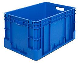 Industriebehälter - Inhalt 60 l, LxBxH 600 x 400 x 320 mm, VE 3 Stk - blau