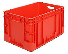Industriebehälter - Inhalt 60 l, LxBxH 600 x 400 x 320 mm, VE 3 Stk - rot