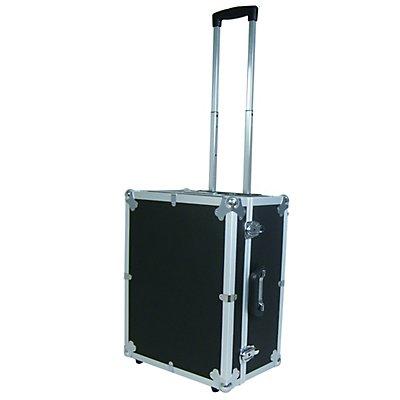 VISO Transportbox, gepolstert, mit zwei Rollen und ausziehbarem Trolleygriff