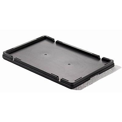 Deckel - LxBxH 600 x 400 x 32 mm - schwarz, VE 4 Stk
