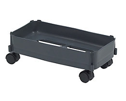 Fahrgestell - Tragkraft max. 80 kg, für Inhalt 60 l - Rollen für weiche Böden