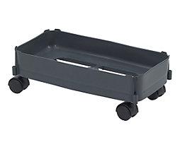 Fahrgestell - Tragkraft max. 80 kg, für Inhalt 60 l - Rollen für harte Böden