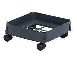 Fahrgestell - Tragkraft max. 80 kg, für Inhalt 90 l - Rollen für harte Böden