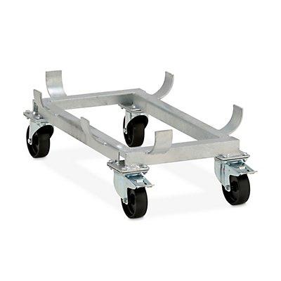 Cemo Fahrgestell für GfK-Rechteckbehälter - Polypropylen-Rollen, schwarz