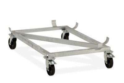 Fahrgestell für GfK-Rechteckbehälter - Polypropylen-Rollen, schwarz