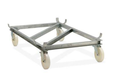 Fahrgestell für GfK-Rechteckbehälter - Polyamid-Rollen, weiß
