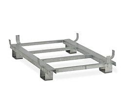 Piétement en acier - galvanisé - pour L x l 1620 x 1190 mm, capacité 1100 litres