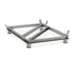 Piétement en acier - galvanisé - pour L x l 1820 x 1390 mm, capacité 1500 litres