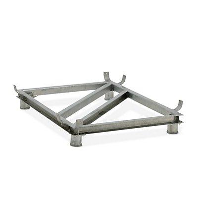 CEMO Stahlfußgestell - verzinkt - für LxB 1218 x 620 mm, Inhalt 200 Liter
