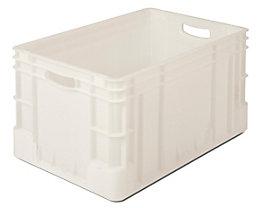 Stapelbehälter aus Polypropylen - Inhalt 60 l, Außenmaße LxBxH 600 x 400 x 320 mm - natur, ab 10 Stk