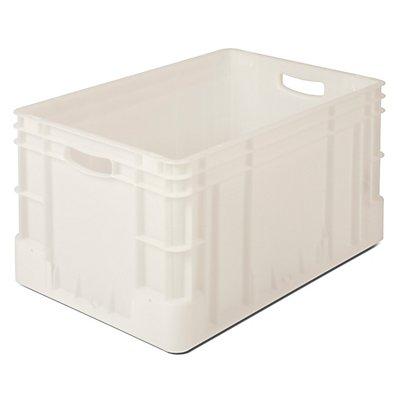 VECTURA Stapelbehälter aus Polypropylen - Inhalt 60 l, Außenmaße LxBxH 600 x 400 x 320 mm