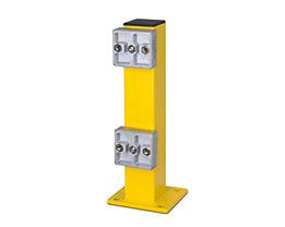 Rammschutz-Pfosten - zum Aufdübeln - für außen, verzinkt und beschichtet