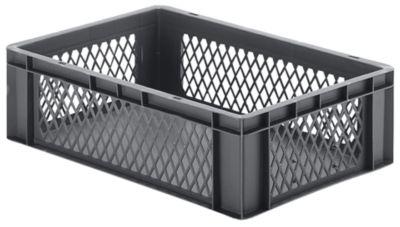 Euro-Format-Stapelbehälter, Wände durchbrochen, Boden geschlossen - LxBxH 600 x 400 x 175 mm