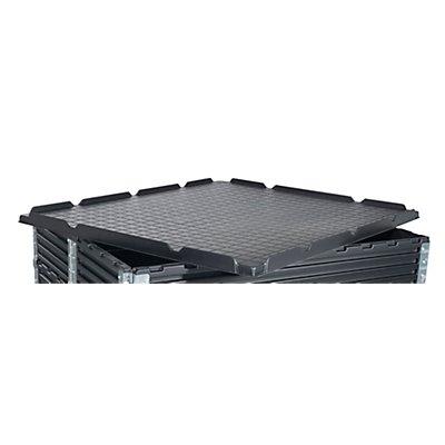 KIGA Deckel aus ABS-Recyclingkunststoff - für LxB 1200 x 1000 mm - schwarz
