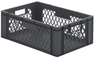 Euro-Format-Stapelbehälter, Wände durchbrochen, Boden geschlossen - LxBxH 600 x 400 x 210 mm