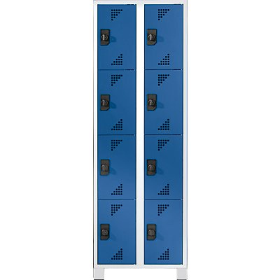 EUROKRAFT Schließfachschrank, Fachhöhe 418 mm - HxBxT 1800 x 600 x 500 mm, 8 Abteile