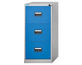 office akktiv Hängeregistraturschrank - 1-bahnig, 3 Schübe - lichtgrau / lichtblau