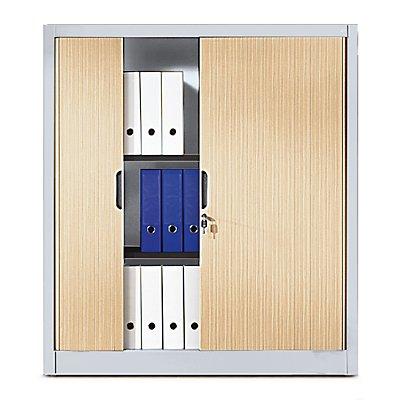 CP Rollladenschrank mit Horizontal-Jalousie - HxBxT 1345 x 1200 x 420 mm, 3 Fachböden, 3,5 Ordnerhöhen