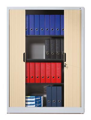 CP Rollladenschrank mit Horizontal-Jalousie - HxBxT 1660 x 1200 x 420 mm, 3 Fachböden, 4 Ordnerhöhen