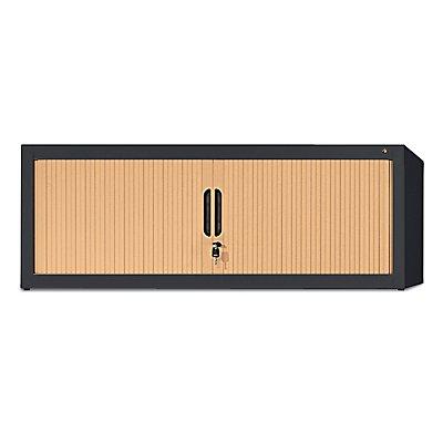 CP Rollladen-Aufsatzschrank - HxBxT 450 x 1200 x 420 mm - schwarzgrau