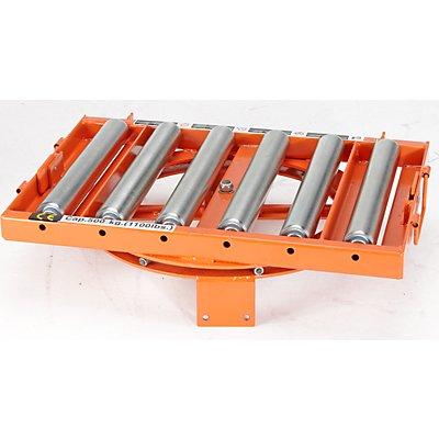 Rollenbahn drehbar - Tragfähigkeit 650 kg - Rollenlänge 430 mm