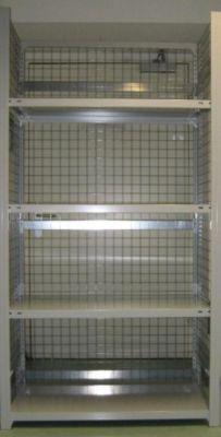 hofe Steckregal, leichte Ausführung, komplett aufgebaut - 4 Fachböden, Boden-BxT 1000 x 500 mm - Höhe 2000 mm