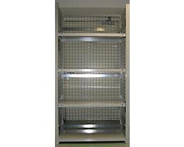 hofe Steckregal, leichte Ausführung, komplett aufgebaut - 4 Fachböden, Boden-BxT 1000 x 500 mm
