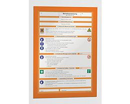 Durable Magnetrahmen - selbstklebend - für DIN A4, Rahmen orange, VE 20 Stk