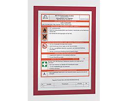 Durable Magnetrahmen - selbstklebend - für DIN A4, Rahmen rot, VE 20 Stk