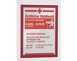 Durable Magnetrahmen - selbstklebend - für DIN A4, Rahmen rot, VE 10 Stk