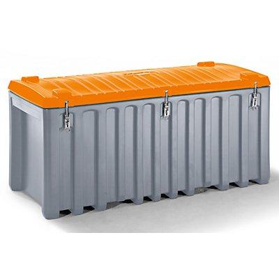 CEMO Universalbox aus Polyethylen - Inhalt 750 l, Traglast 400 kg, grau / orange
