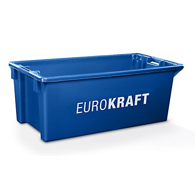 EUROKRAFT Drehstapelbehälter aus lebensmittelechtem Polypropylen - Inhalt 70 Liter, VE 2 Stk
