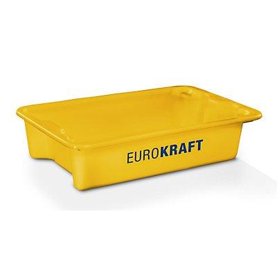 EUROKRAFT Drehstapelbehälter aus lebensmittelechtem Polypropylen - Inhalt 18 Liter, VE 3 Stk