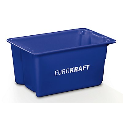 EUROKRAFT Drehstapelbehälter aus lebensmittelechtem Polypropylen - Inhalt 50 Liter, VE 3 Stk