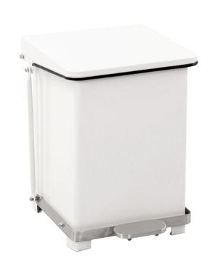 Industrie-Treteimer aus Stahlblech - pulverbeschichtet, weiß RAL 9016
