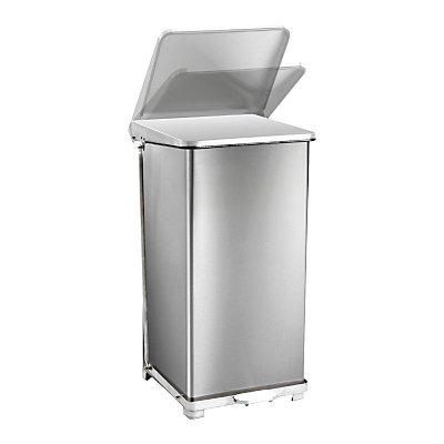 Industrie-Treteimer aus Edelstahl - mit integrierter Abfallsackhalterung