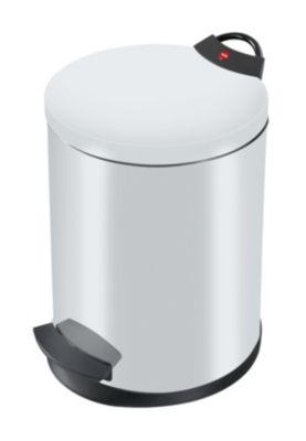 Treteimer, flammverlöschend - Volumen 13 l, pulverbeschichtet, VE 2 Stk - silber RAL 9022