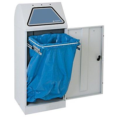 stumpf System-Wertstoffsammler, Einwurfklappe handbetätigt - mit ausziehbarer Abfallsackhalterung