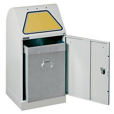 stumpf System-Wertstoffsammler, Einwurfklappe handbetätigt - mit Innenbehälter, flammverlöschend