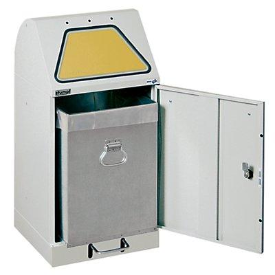 stumpf System-Wertstoffsammler, Einwurfklappe fußbetätigt - mit Innenbehälter, flammverlöschend