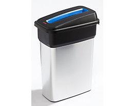 Rothopro Wertstoffsammler METALLIC - Modell KOMPAKT - Volumen 55 l, Einwurfschlitz, blau