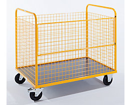 QUIPO Drahtkastenwagen, Tragfähigkeit 350 kg - LxBxH 1250 x 800 x 1140 mm