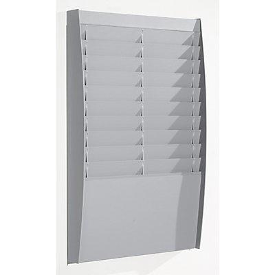 Tableau de tri - 2 x 10 casiers, h x l x p 865 x 544 x 106 mm - gris clair