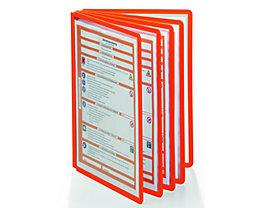Durable Klarsichttafel mit Profilrahmen - für DIN A4, VE 10 Stk - orange